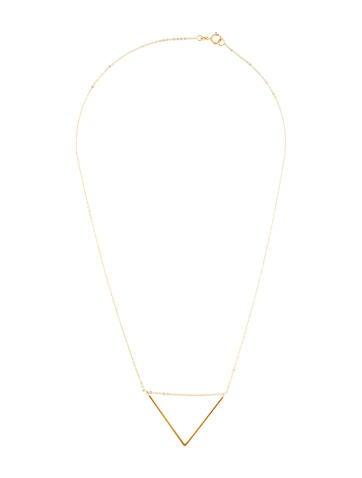 14K V Pendant Necklace