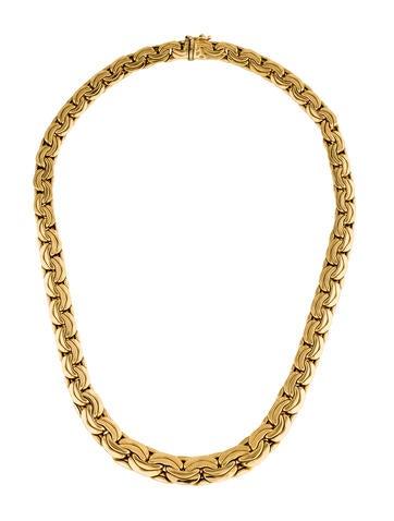 18K Yellow Gold Graduating Collar Necklace