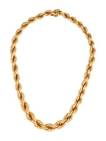 18K Twist Chain Necklace