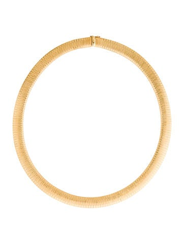 14K Flattened Snake Chain Necklace