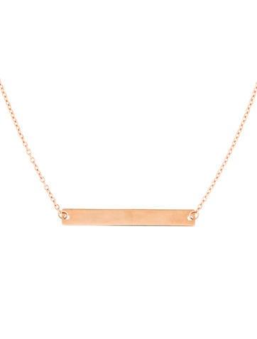 14K Bar Pendant Necklace