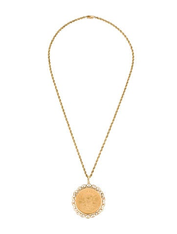 us twenty dollar gold coin necklace necklaces