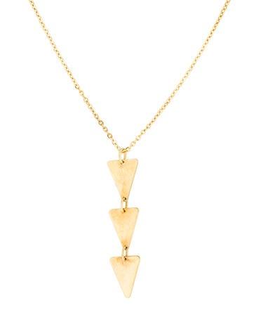 14K Triple Pyramid Pendant Necklace