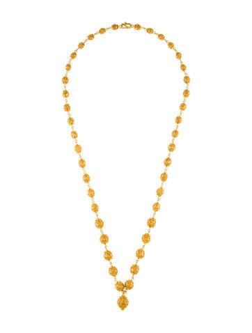 22K Filigree Bead Necklace