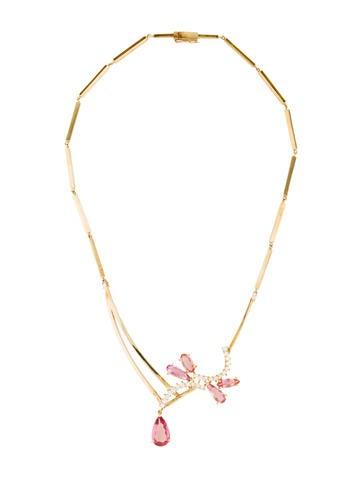 18K Topaz & Diamond Necklace