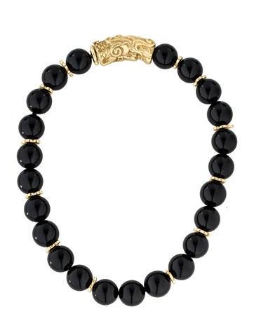 18K Onyx Bead Strand Necklace