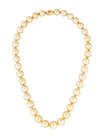 18K Graduated Pearl Strand Necklace