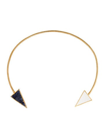 14K Kyanite & Diamond Arrow Choker Necklace
