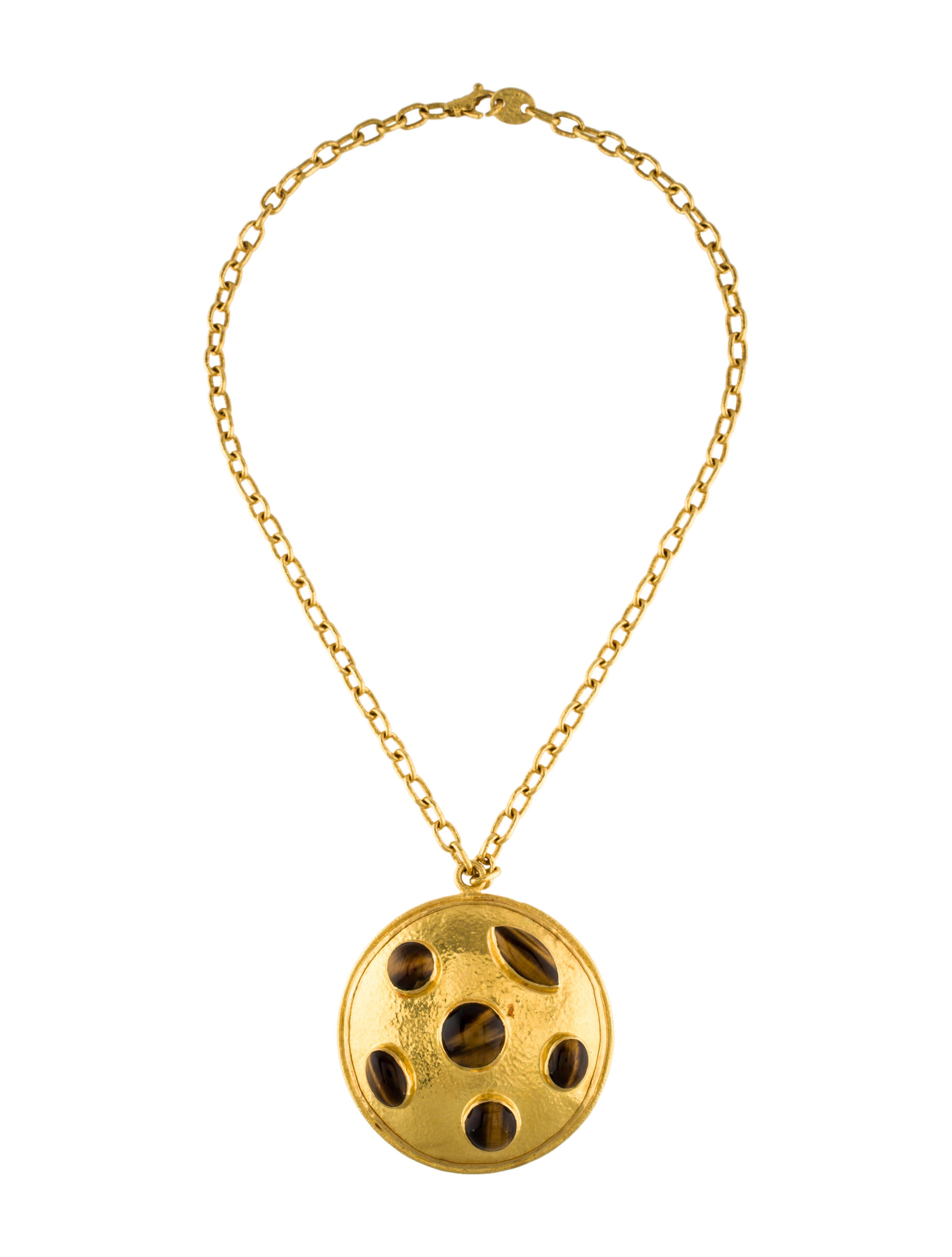 22k Tiger S Eye Pendant Necklace Necklaces Neckl28117