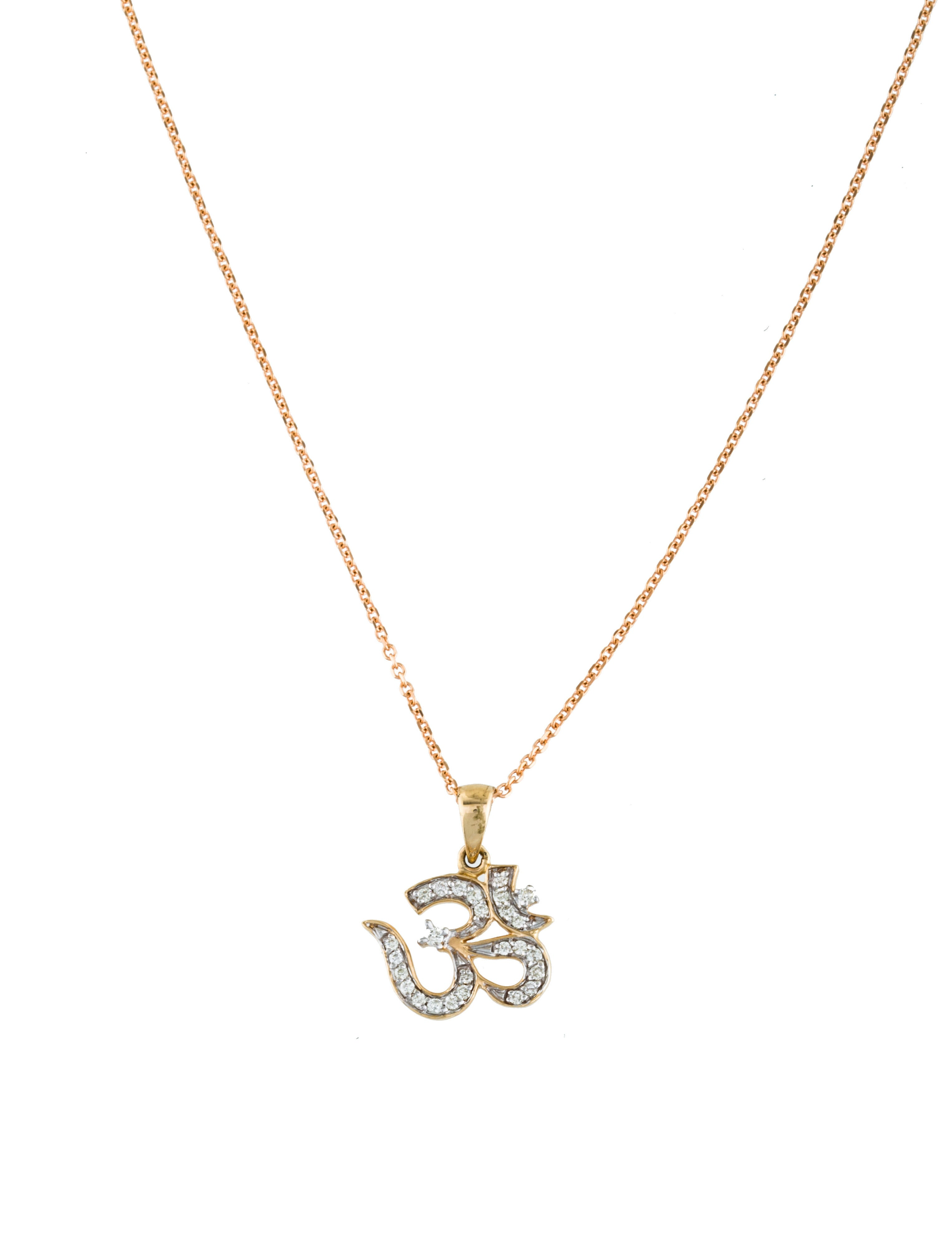 14k om pendant necklace necklaces neckl29689
