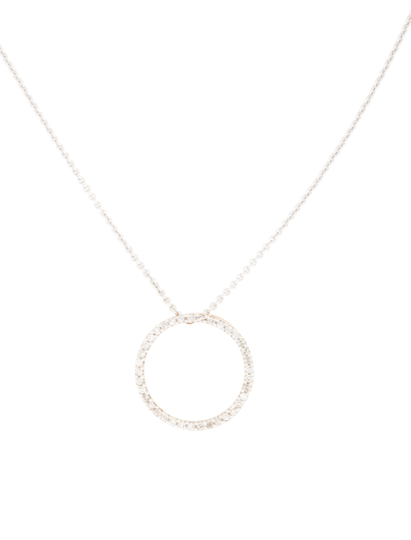 14k open circle pendant necklace necklaces
