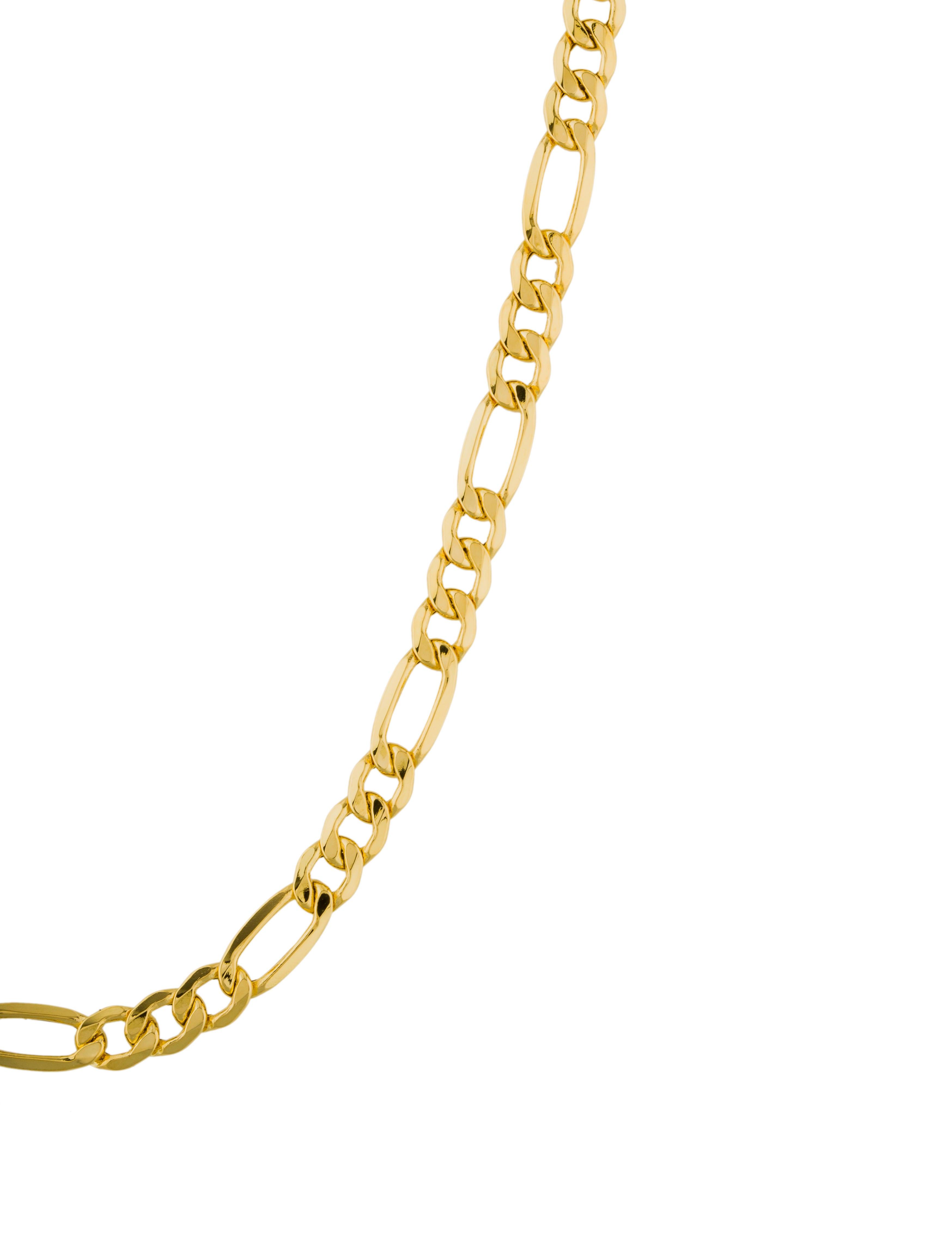 18k figaro chain link necklace necklaces neckl32007. Black Bedroom Furniture Sets. Home Design Ideas