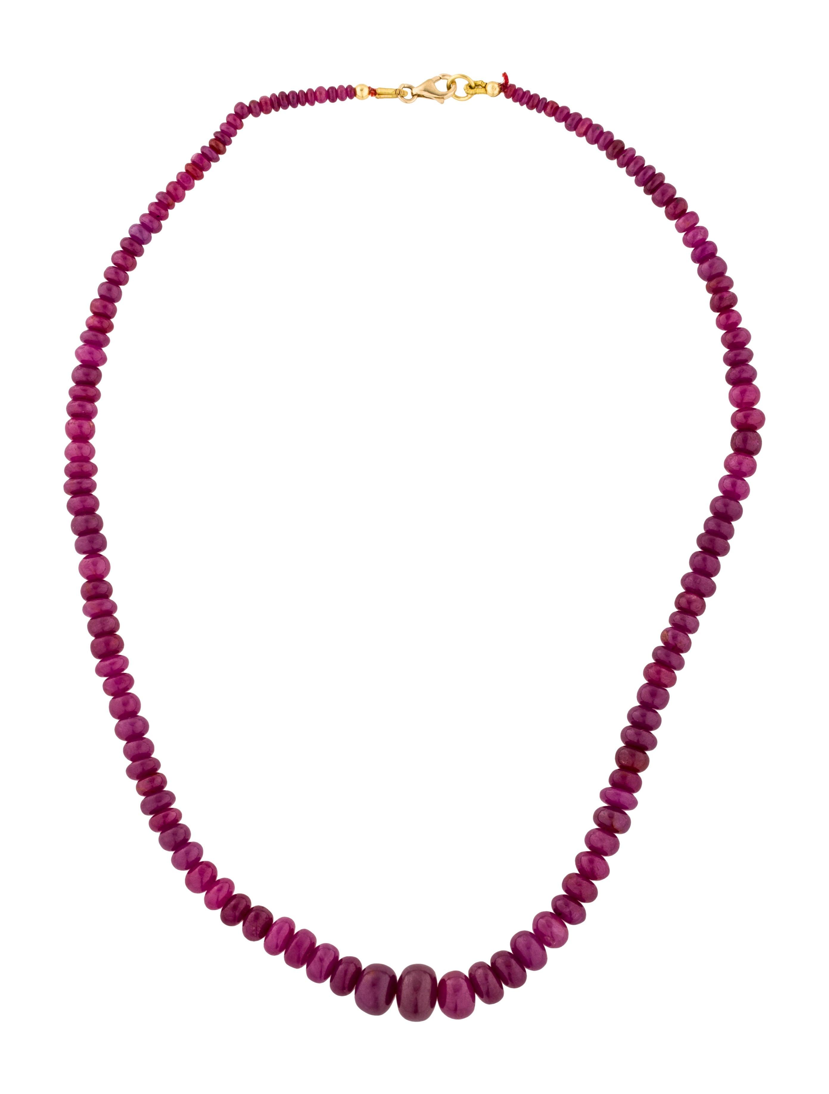 18k ruby bead strand necklace necklaces neckl32629