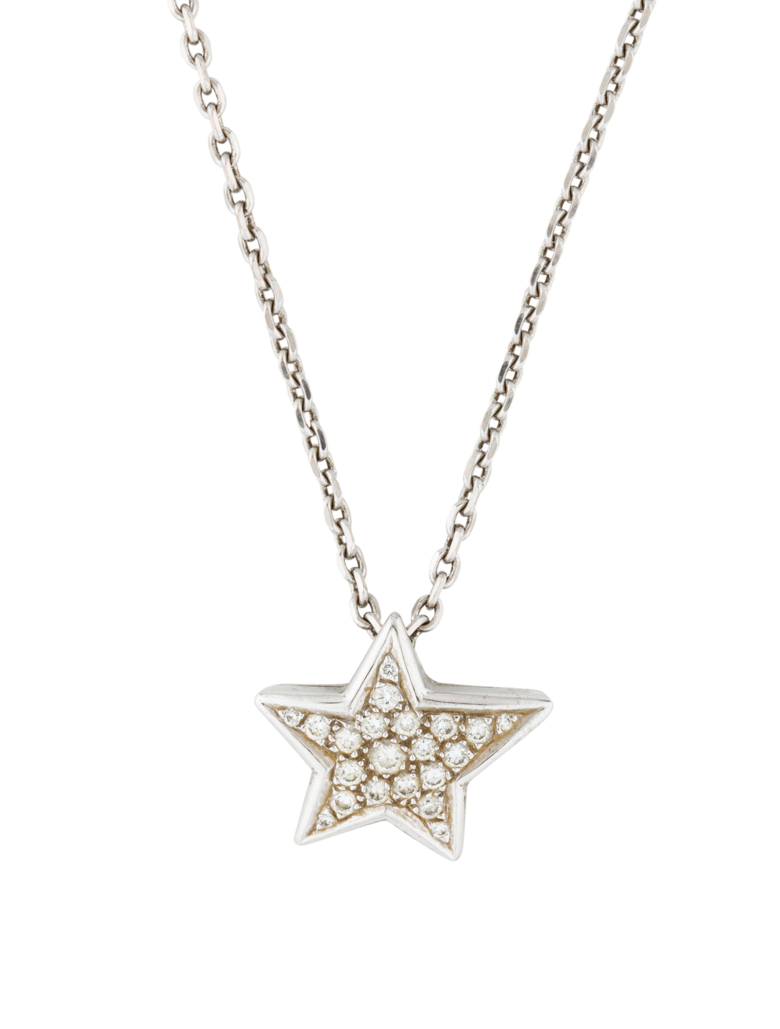 18k white gold diamond star pendant necklace necklaces 18k white gold diamond star pendant aloadofball Choice Image