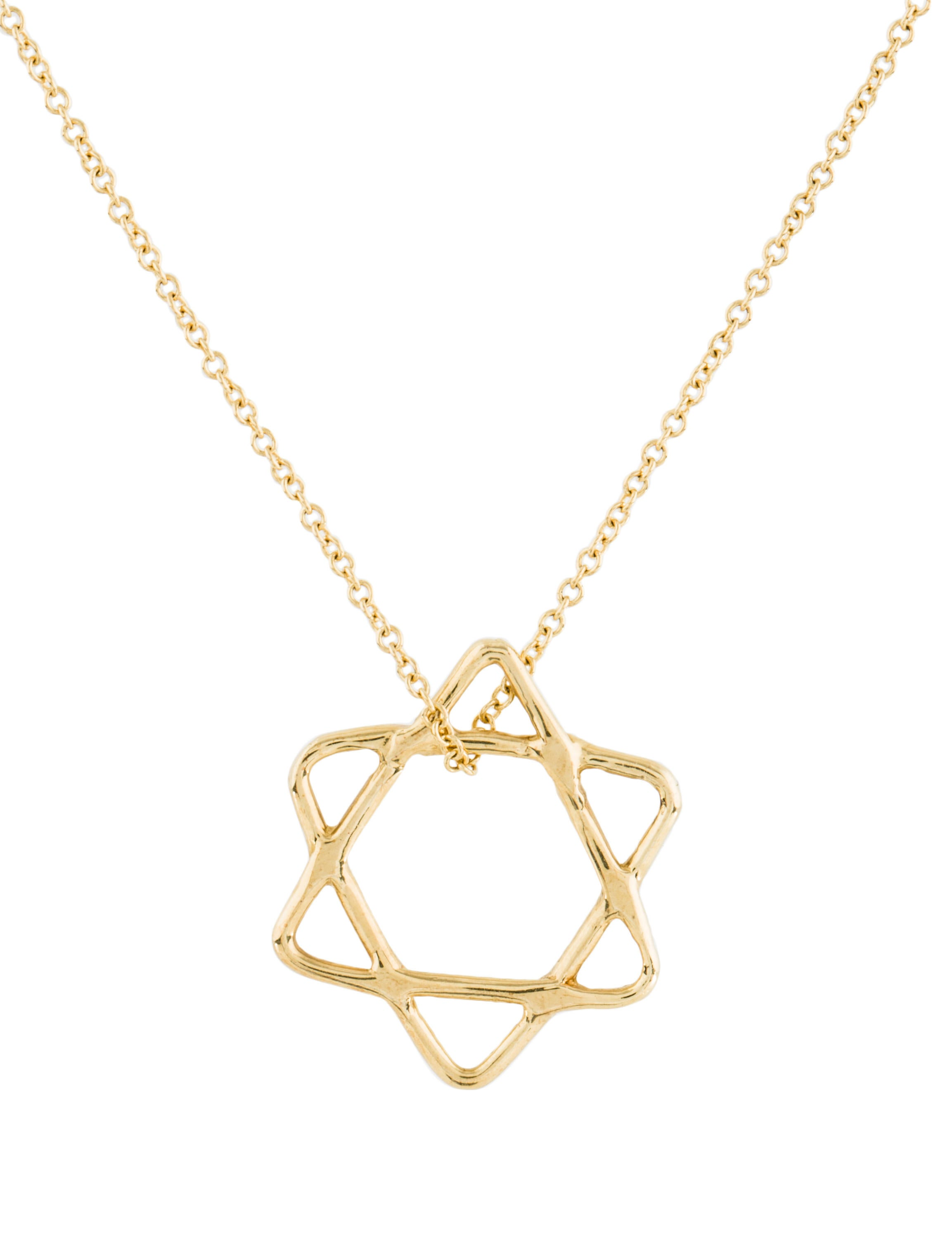 14k star of david pendant necklace necklaces for Star of david jewelry wholesale