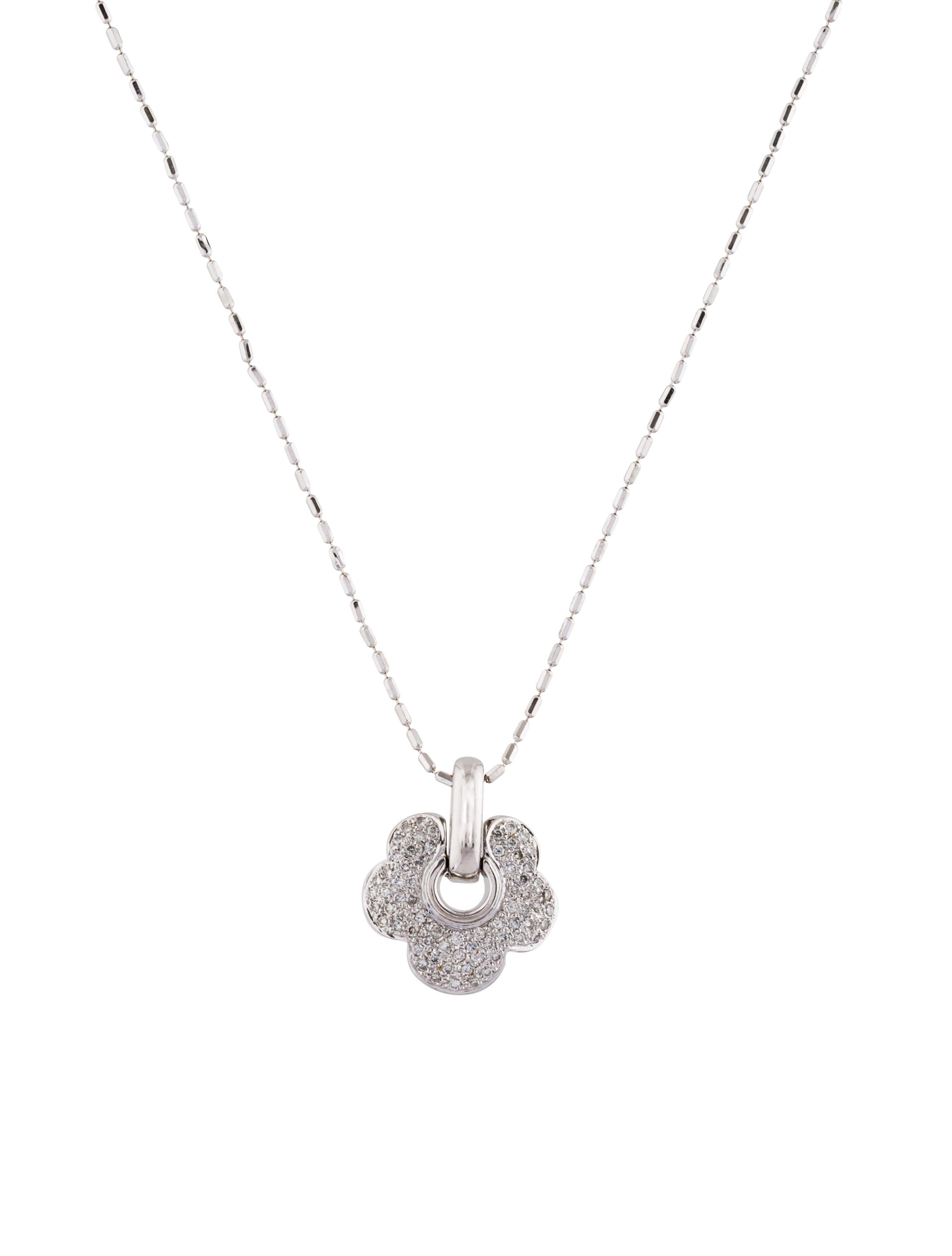 18k diamond flower pendant necklace necklaces neckl36822 the 18k diamond flower pendant necklace aloadofball Gallery