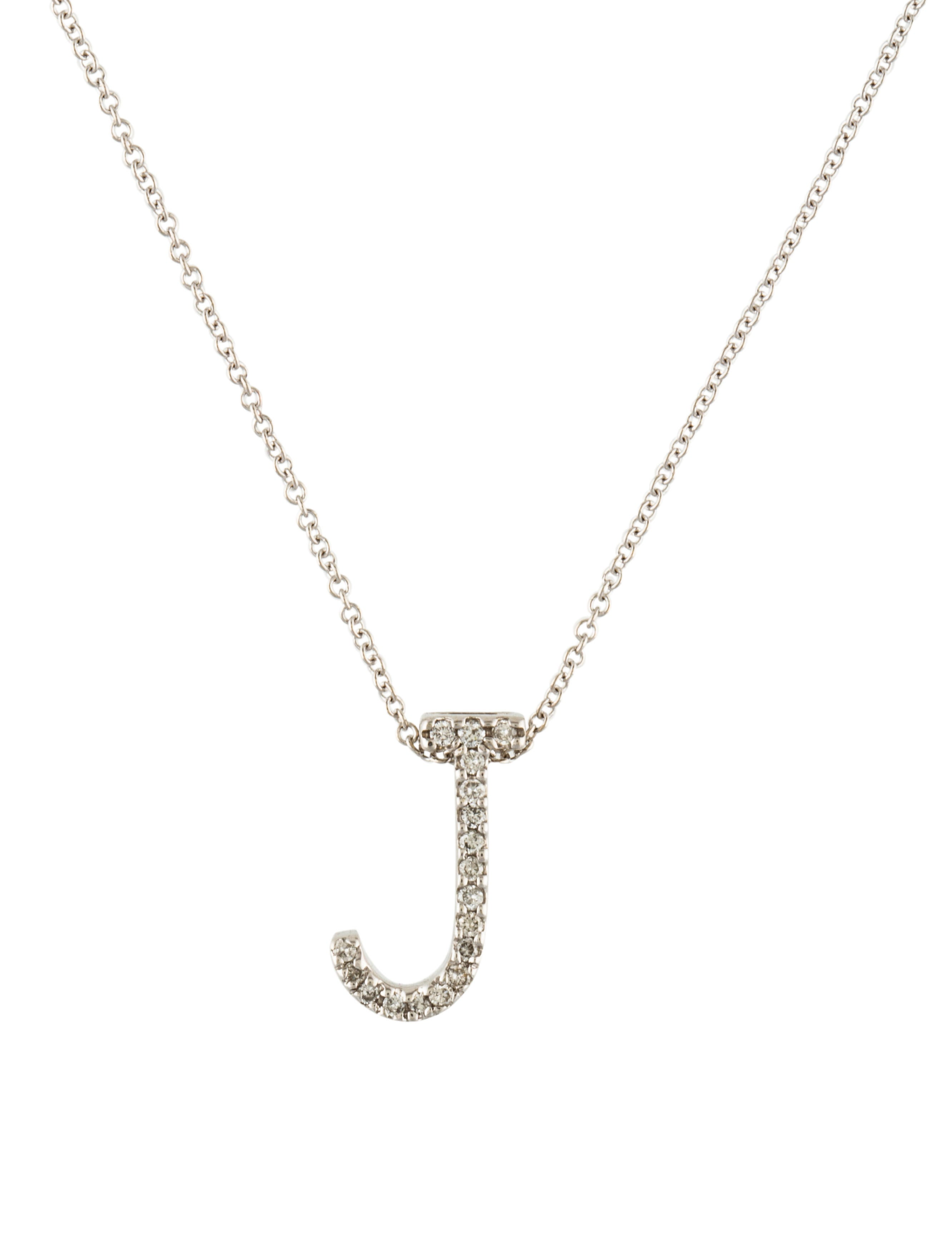 14k diamond j initial pendant necklace necklaces neckl37394 14k diamond j initial pendant aloadofball Image collections