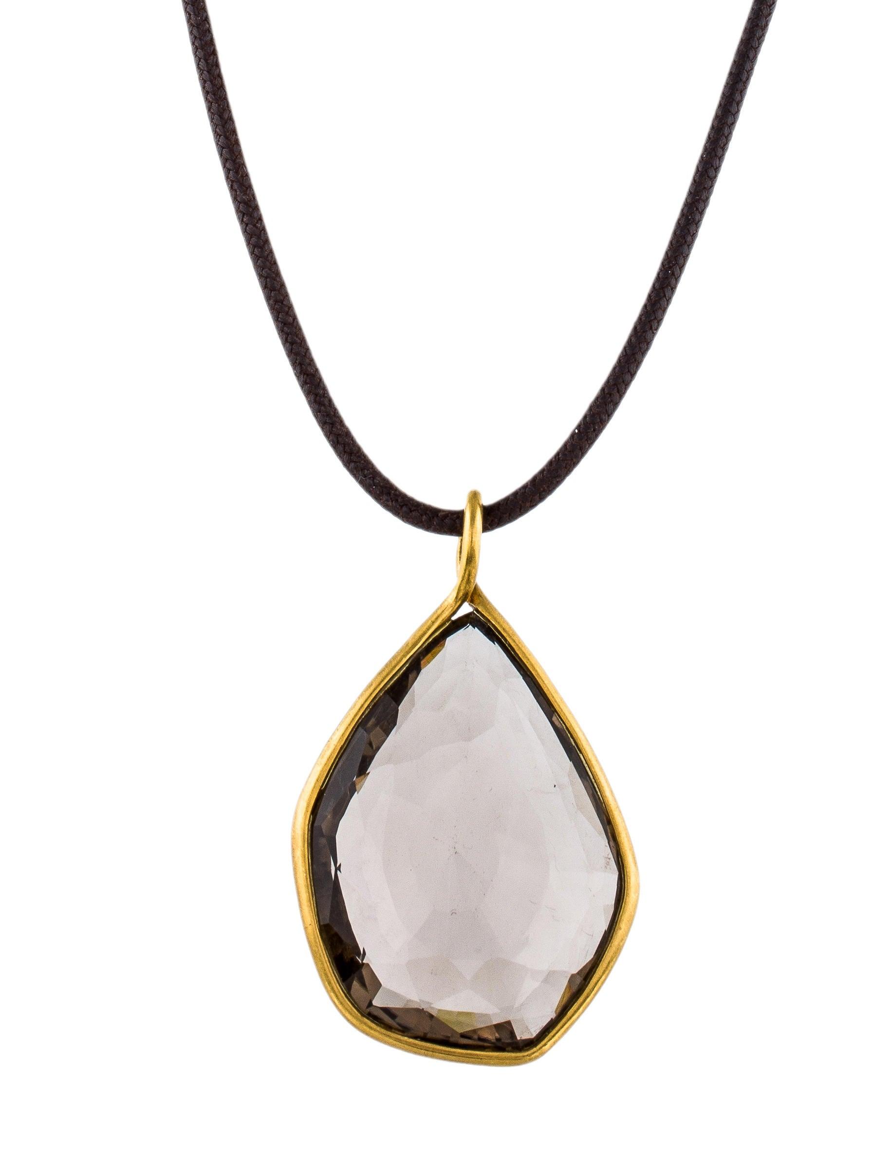 Adelline 18k smoky quartz pendant necklace necklaces adelline 18k smoky quartz pendant aloadofball Images