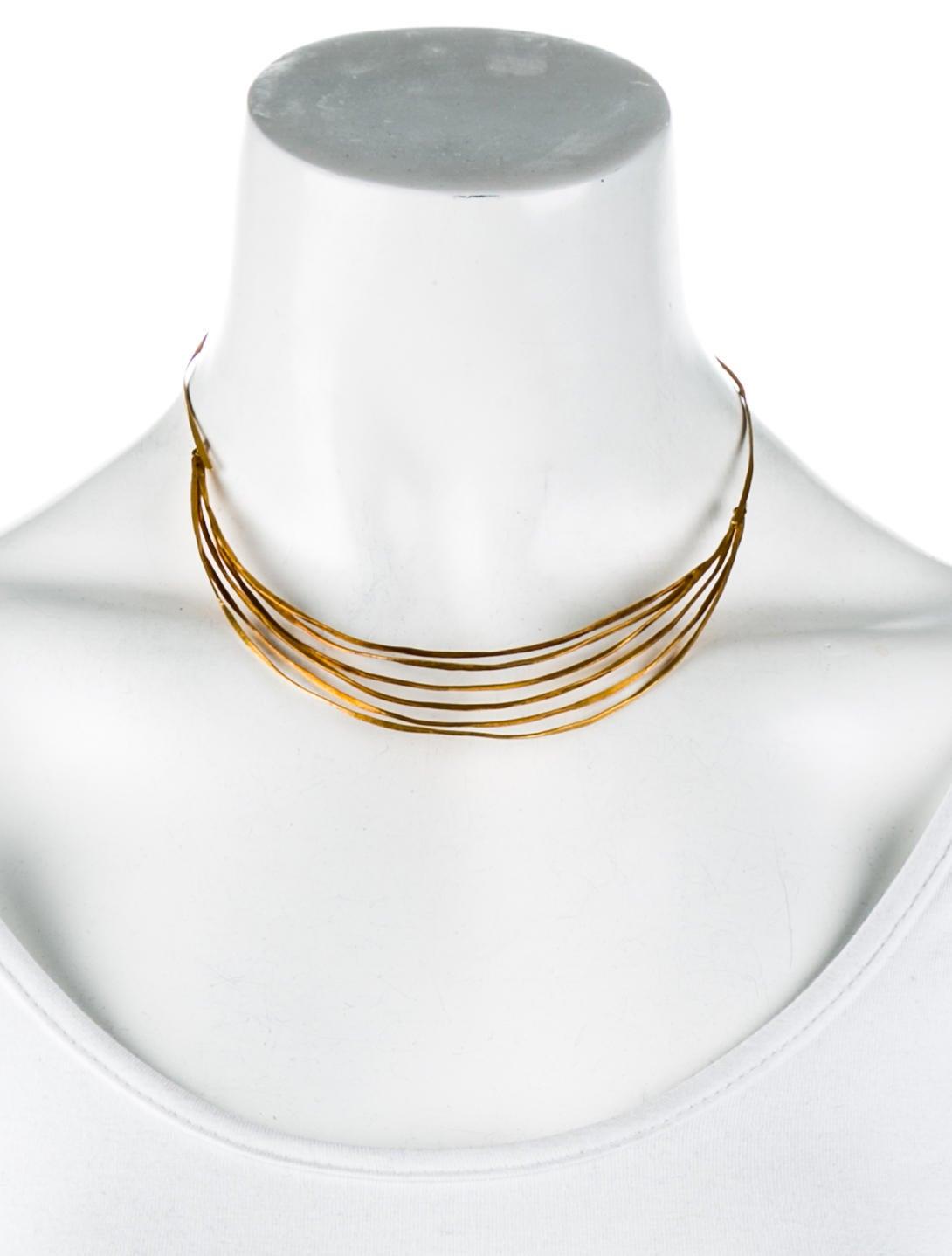 18K Wire Collar - Necklaces - NECKL39088 | The RealReal