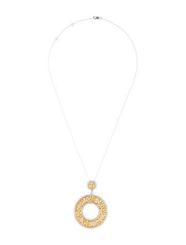 18k jenny perl floral diamond circle pendant necklace necklaces 18k jenny perl floral diamond circle pendant aloadofball Image collections