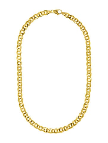 tilly shop gold curb jewellery sveaas chain necklace large