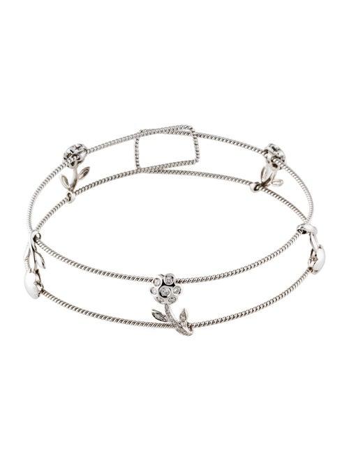 484c66619c6bc5 Necklace 18K Diamond Flower Choker - Necklaces - NECKL56167   The ...