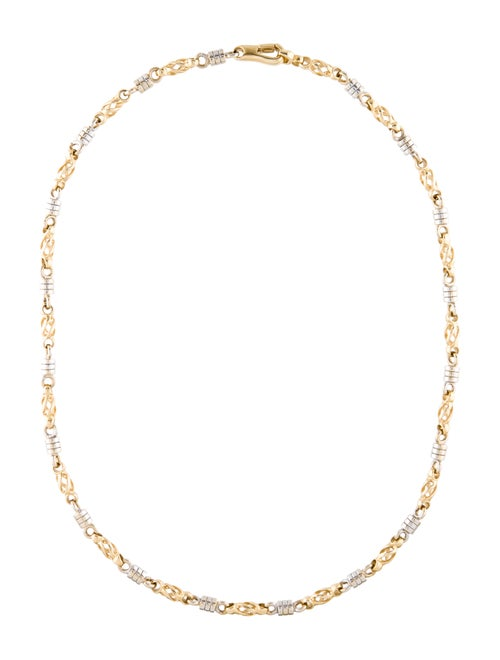 14K Chain-Link Necklace yellow