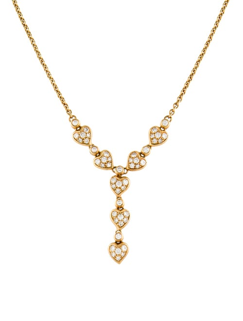 18K Diamond Lavalier Necklace yellow