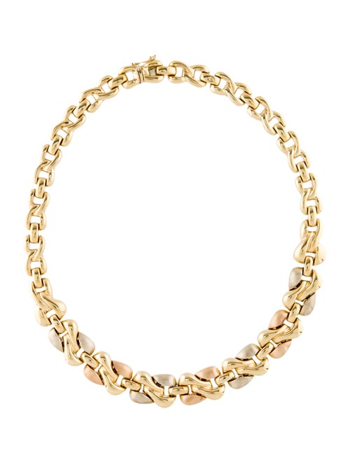 18K Chain-Link Necklace yellow