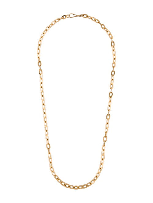 17K Link Chain Necklace yellow