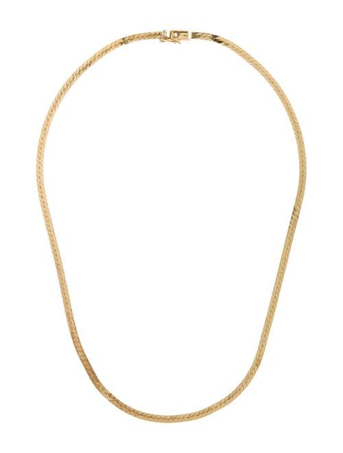 14K Herringbone Chain Necklace yellow