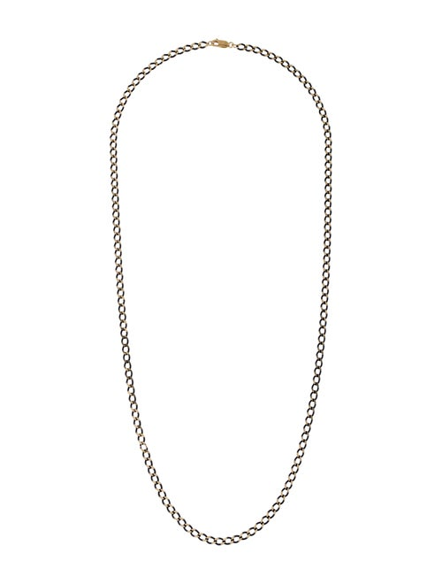 18K Curb Link Chain Necklace yellow