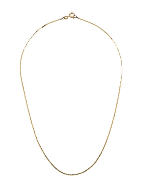 14K 'S' Link Chain Necklace yellow