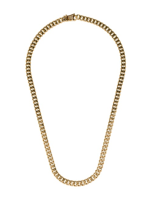14K Curb Chain-Link Necklace yellow