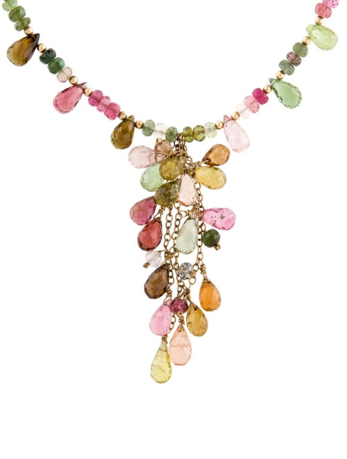 Multistone Lavalier Necklace yellow