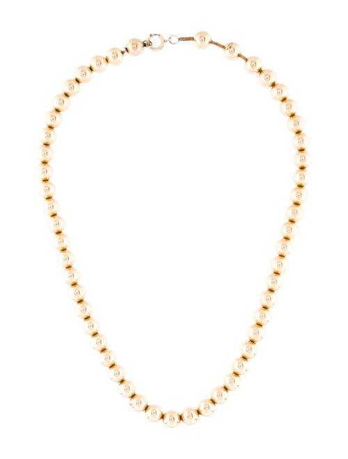 14K Bead Necklace yellow