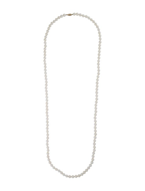 14K Pearl Strand Necklace white