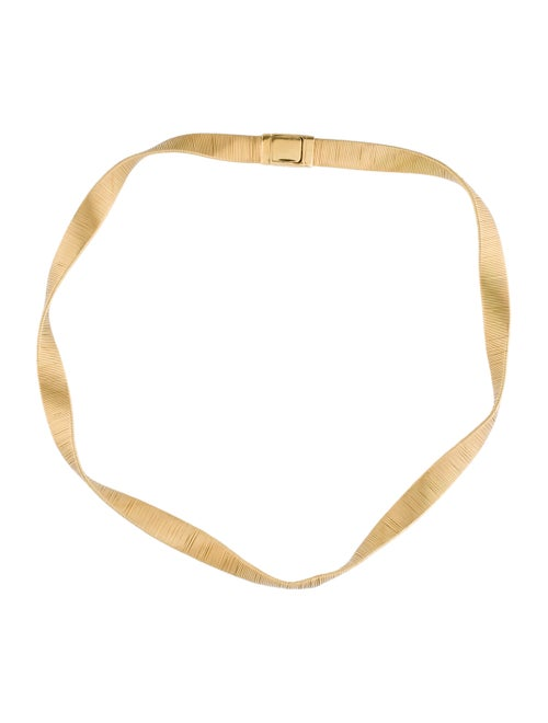 18K Spiral Collar yellow