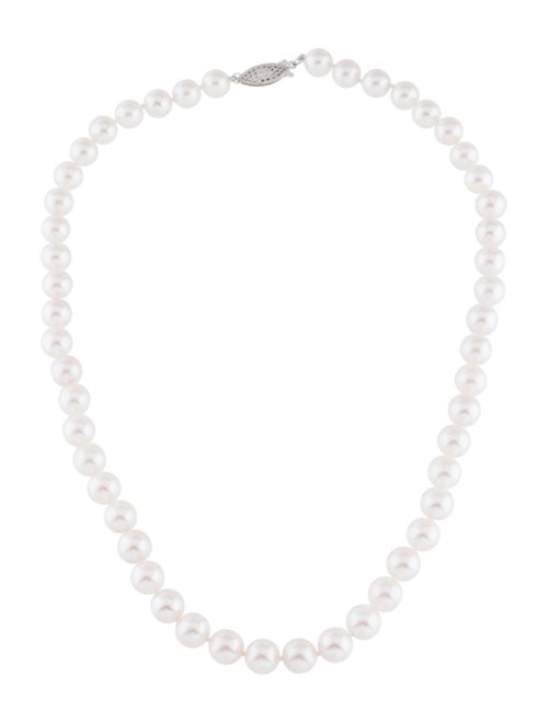 14K Pearl Necklace white