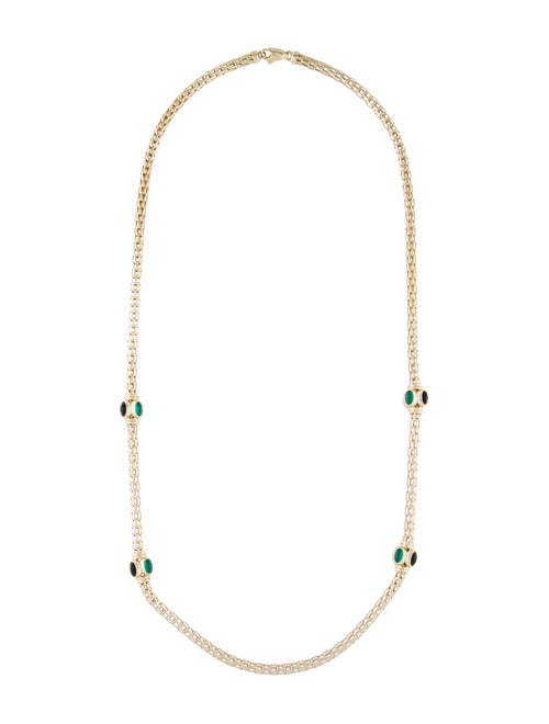 14K Multistone Chain Necklace yellow