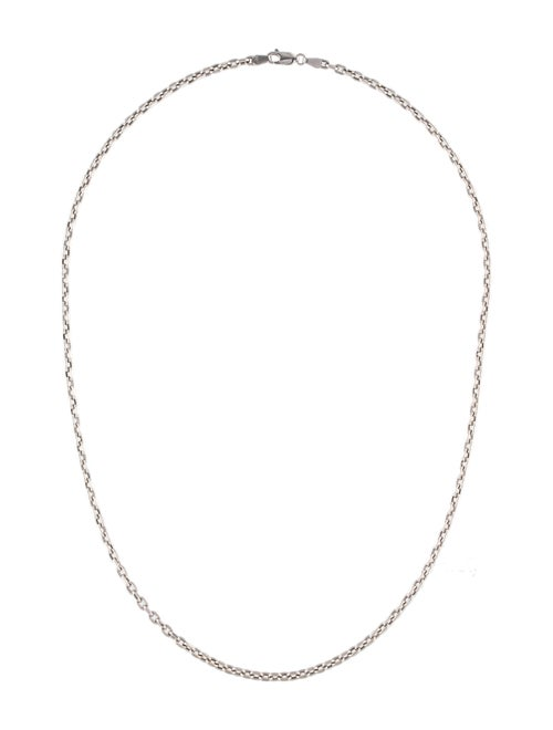 14K Link Chain Necklace White