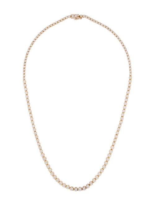 14K Diamond Graduated Chain Necklace yellow