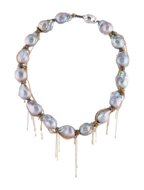 Necklace Pearl Fringe Collar Necklace