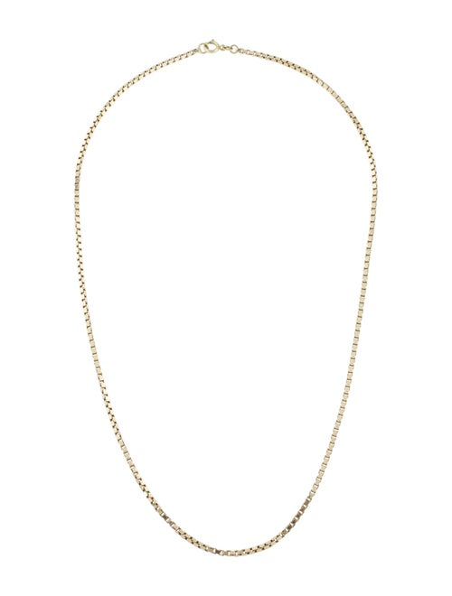 Necklace 14K Box Chain Necklace yellow