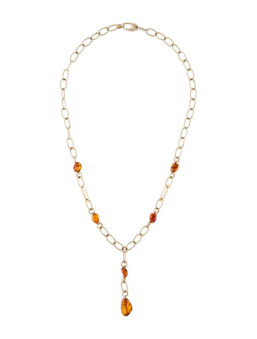 Necklace 14K Amber Lavalier Necklace yellow