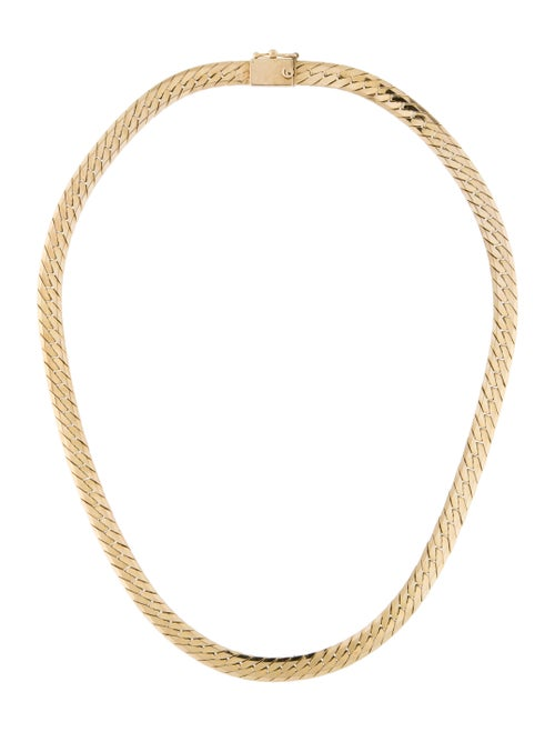 14K Curb Chain Necklace yellow