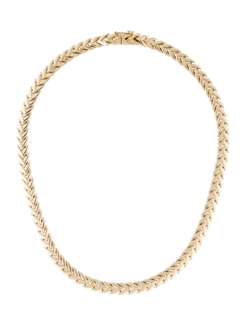 14K Chevron Chain-Link Necklace yellow