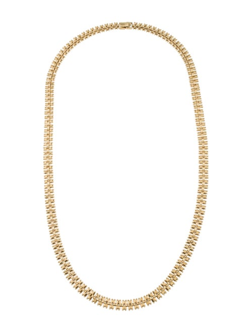 18K Wide Chain Necklace yellow