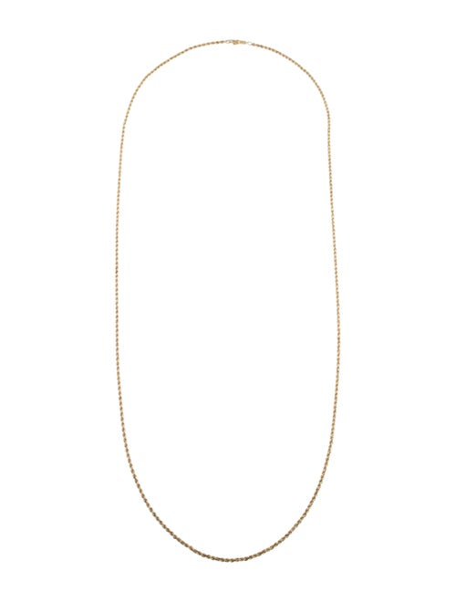14K Long Chain Necklace yellow