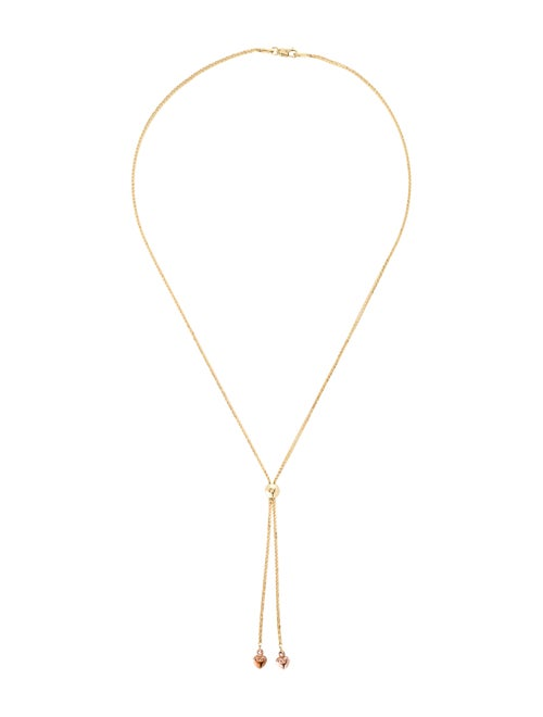 14K Heart Lavalier Necklace yellow